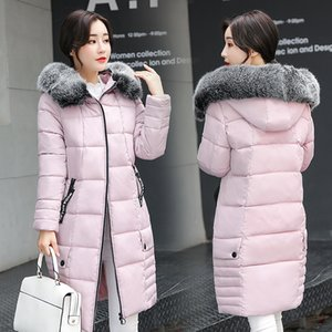 Wholesale Cotton padded Clothes Winter Hair Lead Long Fund Thickening Cotton Will Code Cotton padded Jacket Dress Clothes