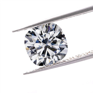 Wholesale test for diamonds resale online - 0 CT to CT fee ship real D color FL cushion cut diamond moissanite lab create loose stones for band pass test give a moissanite report