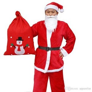 Wholesale Christmas Adult Mens Clothing Set Of Clothes Pants Beard Belt Christmas Hat Bag