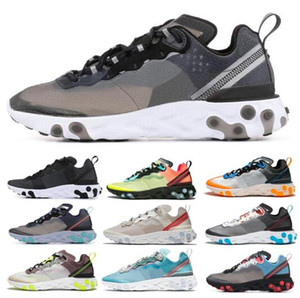 Wholesale Summer React Element With Box Total Orange Royal Tint Running Shoes Women Desert Sand Blue Chill Sail Green Mist Men