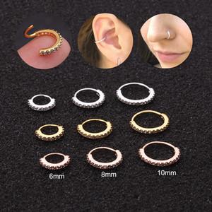 Feelgood 1PC 6 8 10mm Cz Hoop Nose Ear Piercing Jewelry Tragus Snug Rook Daith Lobe Cartilage Helix Hoop Earring