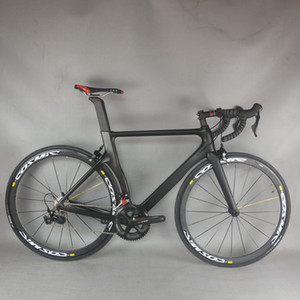 seraph carbon bicycle Aero road complete bike with shimano R7000 groupset mavic aluminum wheels carbon bike TT-X2