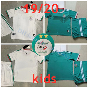 Wholesale 2019 Algeria Kids kit home white Soccer Jersey Algeria MAHREZ Child Soccer Shirt BELHAJ Boy National Team Football uniform