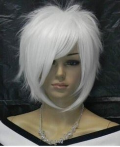 Wholesale Alice turned white fluffy style wig cosplay party wig