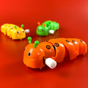 Wholesale Children Kids Classic Gifts Plastic Caterpillar Shape Wind Up Toys Popular Funny Lovely Delicate Clockwork Toys Color send random