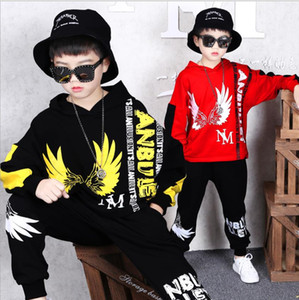 Wholesale Autumn children's loose boy suit 2019 sweater autumn children's wear long-sleeved casual wear big boy two sets of tide