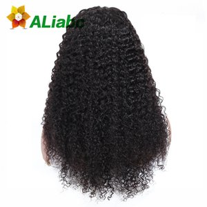 Wholesale Aliabc Brazilian Lace Front Closure Kinky Curly Human Hair Wigs For Black Women Natural Color Remy Hair Extensions Y190713