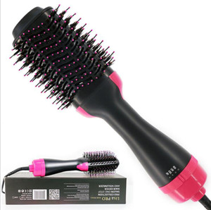 One-Step Hair Dryer & Volumizer Salon Hot Air Paddle Styling Brush Negative Ion Generator Hair Straightener Curler