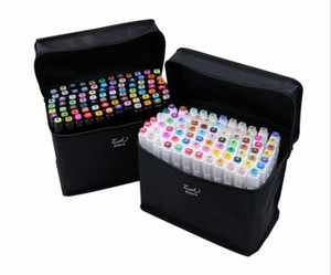 Hot TouchFIVE 80 Color Dual Headed Art Markers Set Artist Sketch Oily Alcohol based markers For Animation Manga luxury pen school supplies