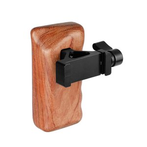 Wholesale rigging clamps resale online - CAMVATE Wooden Handgrip Left Side With QR ARCA Compatible Clamp for dslr cage rig C2068
