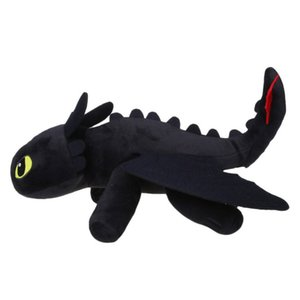 Wholesale 35cm How to Train Your Dragon Toothless Night Fury Soft Stuffed Animal Plush Toys Kids Gift Halloween Cosplay