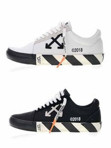 2019 New FW18 off Platform Running Shoes White Black c o Virgil Vulc Low Top Canvas Men Women Fashion Casual Chaussures