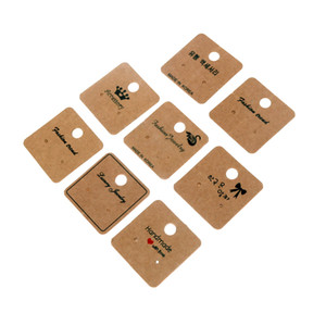 200psc Customzied Ear Studs Card Hang Tags Jewelry Packing Display Necklace Earring Cards Marking Label Pendant Kraft Paper 200pcs