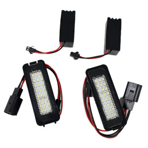 2X 18 LED Error Free Auto light Number License Plate Light Bulbs Tail Light Fit For VW GTI Golf 4 5 6 Passat Scirocco MK4 5 6 1998-2002