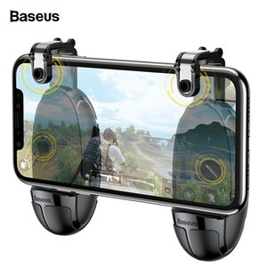 Baseus Joysticks Joypad For PUBG Mobile Game Trigger Fire Button Gamepad For iPhone Xiaomi Android Phone L1R1 Shooter Controller