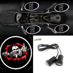 Wholesale Maxup lamp Demon skull Logo easy to install Car door Universal All the cars Projector Laser Welcome Ghost shadow light New