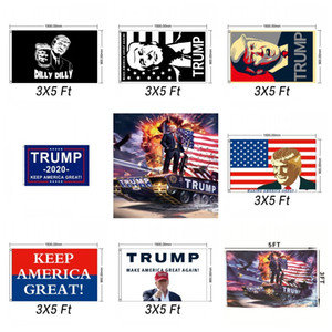 Wholesale Trump train Tank Flag Donald John Banner Usa President Decortive keep america great Multiple Styles12wf F1