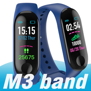 Wholesale 30pcs M3 Smart Band Bracelet Heart Rate Watch Activity Fitness Tracker pulseira Relógios reloj inteligente XIAOMI apple watch