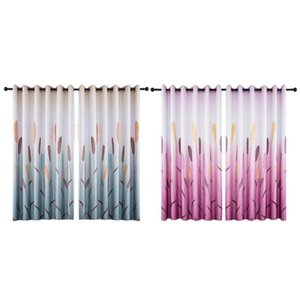 Wholesale Landscape Printing Living Room Blackout Drapes Bedroom Curtains Window Blinds Can Use as A Door Curtain or Background