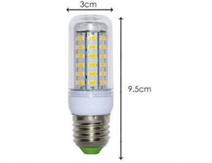 High quality ultra bright Led bulb E27 110V SMD 5730 chip 360 beam angle led corn light lamp lighting 36led