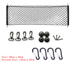 Universal Car Rear Cargo Trunk Storage Net Mesh Adjustable SUV Organizer Pocket Free Shipping