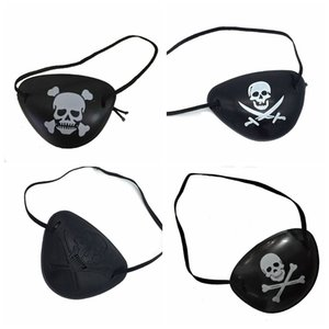 Wholesale Halloween Mask Pirate Eye Patch Skull Eye Mask Crossbone Costume Kids Halloween Toy Craft Gifts VT0799
