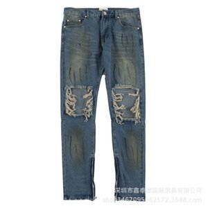 Wholesale Dear2019 Women And Men Holes Easy Leisure Time Beggar Upon All-match Jeans Hip-hop Trend