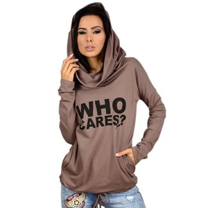Wholesale Printed Designer Womens Thin Tshirts Who Cares Letters Pullover Long Sleeve Womens Tops Casual Female Clothing