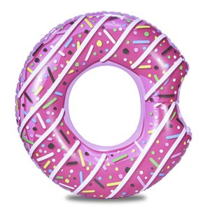 Wholesale Inflatable Donut Swimming Ring Giant Pool Float Toy Circle Beach Sea Party Inflatable Mattress Water Adult Kid