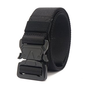 Wholesale 9 Colors Canvas Army Belt Men Tactical Designer Belts For Trousers Long Elastic Waist Belt Black Quick Release Nylon Cobra