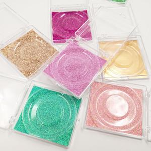 Wholesale Square False Eyelashes Packaging Box 3D Mink Lashes Boxes Transparent Plastic Clear Eyelash Box Case with trays
