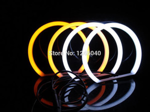 Wholesale Dual color Cotton LED Angel eyes kit halo ring DRL Turn signal light for E46 Door Sedan Non Projector White amber