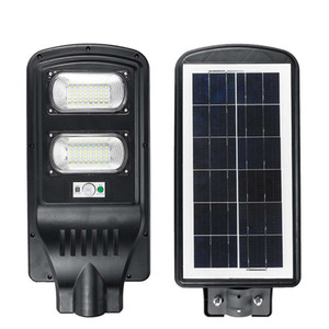 New Solar Street Light 20W 40W 60W IP65 Integrated PIR Motion Sensor All In One Solar Street Light with Pole Remote Control