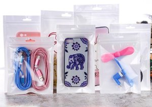 white Zip lock Mobile phone accessories case earphone shopping packing bag OPP PP PVC Poly plastic packaging bag