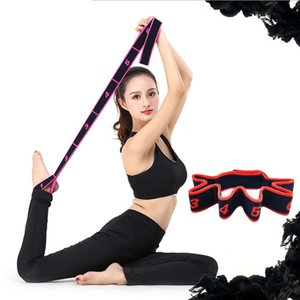 Wholesale Yoga Pull Strap Belt Polyester Latex Elastic Latin Dance Stretching Band Loop Yoga Pilates GYM Fitness Exercise Resistance Bands