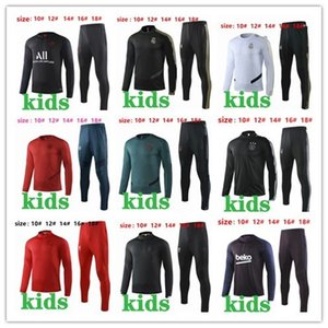 Wholesale top PSG KIDS tracksuit Real Madrid Soccer training suit Ajax Sportswear maillot de foot MBAPPE RONALDO training suit