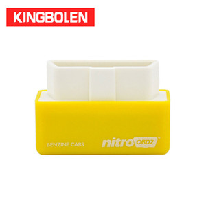 Wholesale engine plugs resale online - NitroOBD2 Gasoline Benzine Cars Chip Tuning Box More Power Torque Nitro OBD2 Plug and Drive Increase Engine Power