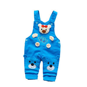 Wholesale Boys Pants Kids Spring Autumn Jumpsuit Pants Children Girls Cartoon Overalls Trousers for Little Boy Strap Pants