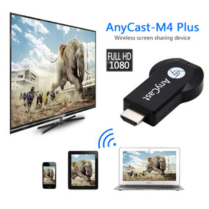 Wholesale Anycast M4 plus HDMI Media Video Streamer Wi Fi Display Dongle P Mini PC Android TV Stick Adapter for Smart Phones Tablet PC