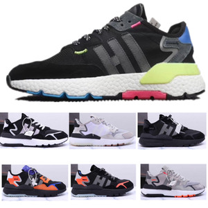 1b618f6f048d 2019 Nite Jogger Shoes Men Womens Running Shoes CORE BLACK SHOCK RED  Originalss Classic Sports Chaussures Fashion Trainers Shoes Sneakers