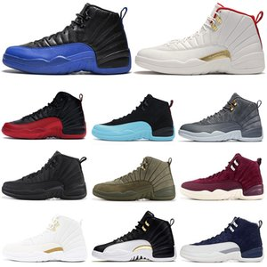 Men 12 12s basketball shoes Black royal blue Fiba playoff Paris CNY dark grey nylon wings ovo white mens trainers