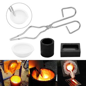 Wholesale 4 Graphite Rod Crucible Clamp Heat Resistant Smelting Kit Scrap Jewelry Metal Gold Refining Forge Set