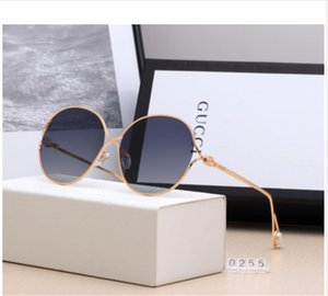 Wholesale fashion Summer luxury Round Sunglasses Sun Glasses with pearl Men Women Brand Glasses Designer Fashion Male Female with box