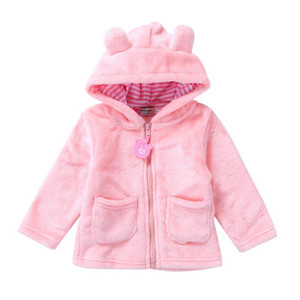 Autumn Winter Baby Girls Sweet Long Sleeve Hooded Thick Warm Jackets Kids Infant Princess Outerwear Coats ropa de ninas on Sale