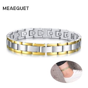 Wholesale 10 quot Silver Bio Energy Magnet Therapy Male Anklet Stainless Steel Men Chain Foot Presilha Para Tornozelo Care Health Jewelry