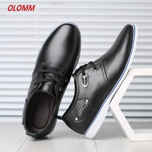 Wholesale 2019 Casual Shoes Men Fashion Handmade Vintage Shoes Luxury Brown Brand Male Genuine Leather Men s Leisure
