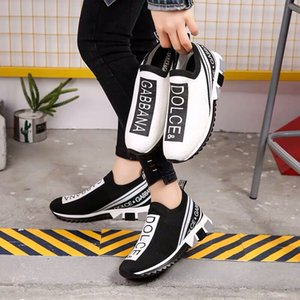 Wholesale Must have Branded Men Graffiti Print Fabric Sorrento Slip on Breathable Sneaker Designer Women Two tone Rubber Micro Sole Casual Shoes