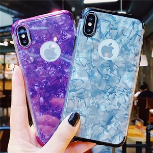 Wholesale Fashion Cool Sea Shell Design Dropproof TPU Soft Cover Skin Back Glossy Electroplate Phone Case cover For IPhone X XS XR XS MAX plus