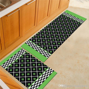 Wholesale Modern Simple Geometry Ground Mat Abstract Strip Kitchen Non slip Mat Bedroom Bedside Bathroom Toilet Non slip Carpet