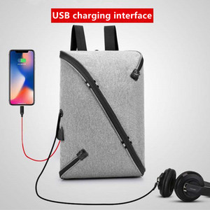 Personality teens waterproof schoolbag laptop tablet backpack Student Bags backpacks large capacity Men travel USB headset port school bag